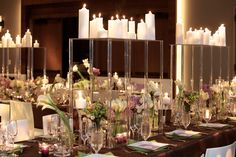Carolyn and Jeffrey's Wedding @trumpsoho Hotel by Lindsay Landman Events. Photo by Gustavo Campos #LLEvents #nycwedding #citywedding #table #decor #floral #arrangements #candles