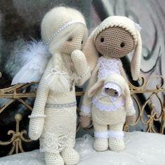 Most Loved Amigurumis Crochet Angels, Crochet Bunny, Amigurumi Doll, Amigurumi Patterns, Amigurumi Tutorial, Knitted Dolls, Crochet Dolls, Crochet Doll Pattern, Crochet Patterns