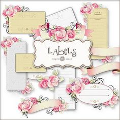Beautiful labels and downloads for scrapbooking and crafts!  Wonderful selection!