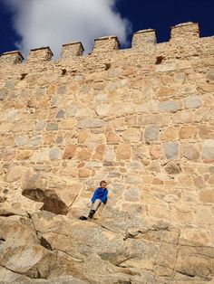 Cole Kosman climbing the walls in Avila, Spain From TheBarefootNomad.com