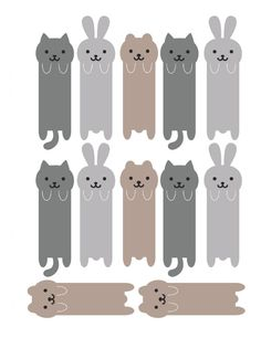 marque page animaux Cool Paper Crafts, Diy Arts And Crafts, Origami, Cute Bookmarks, Karten Diy, Printable Stickers, Paper Toys, Diy For Kids, Paper Art