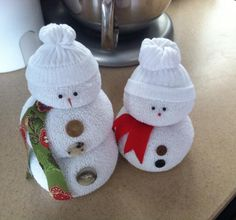 Noel Christmas, All Things Christmas, Christmas Ideas, Sock Snowman, Snowmen, Crafts To Make, Christmas Crafts, Christmas Ornaments, Ready To Roll