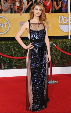 Claire Danes in a gorgeous embellished Vionnet gown