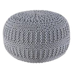 Woven Rope Pouf (160 AUD) ❤ liked on Polyvore featuring home, furniture, ottomans, woven furniture, woven ottoman, woven footstool, round footstool and round ottoman