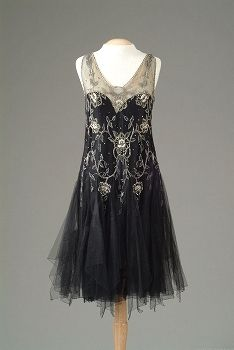 Flapper Evening Dress. 1920's. @Deidré Wallace