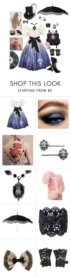 """""""Lolita Doll."""" by sjcountrygirl-sj ❤ liked on Polyvore featuring Cameo, Ashlyn'd, Retrò and Forever 21"""