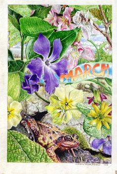 march - painted on vellum