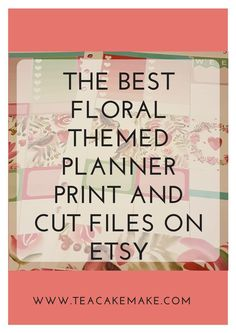 Looking for pretty floral and spring planner printables? I've found the best on Etsy for your Erin Condren and Happy Planner so you don't have to search!