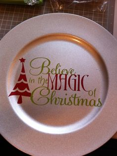 Christmas Charger by Allhungupwallart on Etsy, $12.00