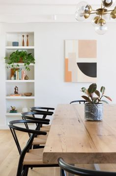 small dining room decor How I Made Room for Our Family of Four in a Two Bedroom Home This Midcentury Reno Might Be Our New Favorite House In Austin - Modern Dining, Room Design, Interior, Dining Room Small, Home Decor, House Interior, Dining Room Decor, Dining Room Inspiration, Small Dining Room Decor