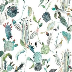 """""""My cactus upholstery design used for the new """"Harper Couch"""" with Anthropologie! @anthropologie www.anthropologie.com"""""""