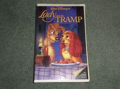 Disney's Lady and the Tramp (VHS) - Rare Black Diamond The Classics Edition, GUC