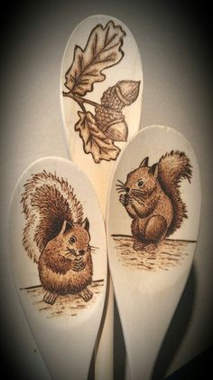 Wood burning (pyrography) by Alicja Schlitz - Brandmalerei Wood Burning Tool, Wood Burning Crafts, Wood Burning Patterns, Pyrography Designs, Pyrography Patterns, Deer Wood, Got Wood, Wood Spoon, Wood Creations