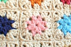 Cluster Burst Granny Square Pattern Design by Petals to Picots