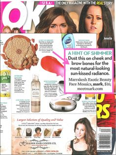 mark's Exotic Beauty Face Mosaics featured in OK! Magazine