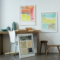 Color Study Wall Art #westelm--- I could totes do this with watercolor!