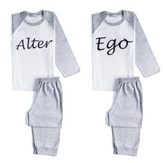 Twin Alter Ego Pyjamas by myTwinsCollection on Etsy