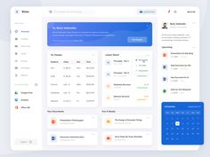 Educational Learning - Dashboard App by Barly Vallendito for Dipa Inhouse on Dribbble Dashboard App, Dashboard Interface, Dashboard Design, Project Dashboard, App Ui Design, Interface Design, Design Design, Design Thinking, Intranet Portal