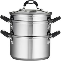 Tramontina 18/10 Stainless Steel 4-Piece 3-Quart Steamer/Double-Boiler $31.97