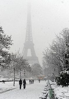 Snow covered ~ Paris, France