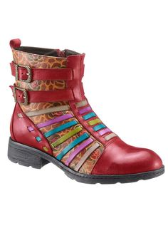 Laura Vita Decorative Buckle Ankle Boots