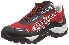 alpina680350 - Scarpe da trekking e da passeggiata Unisex – Adulto  , Rosso (Rosso (rosso)), 43