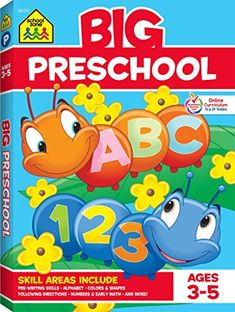 School zone big preschool workbook ages 3 5 colors shapes numbers 1 10 alphabet pre writing pre reading phonics and more school zone big workbook series 0887431453 Worksheets Preschool, Free Preschool, Teach Preschool, Numbers Preschool, Tracing Worksheets, Preschool Books, Preschool Printables, Preschool Activities, Numbers 1 10