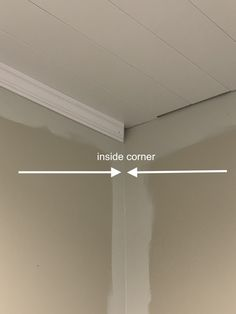 How to Install Crown Molding Crown Molding In Bedroom, Cut Crown Molding, Ceiling Crown Molding, Shiplap Ceiling, Ceiling Trim, Moldings And Trim, Diy Molding, Crown Molding Installation, Installing Shiplap