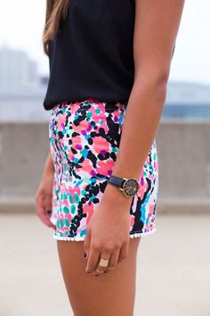 • jewelry fashion shorts summer style fashion blog watch lilly rings Preppy prep lilly pulitzer a southern drawl emeraldcitydreams •