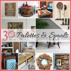 Looking for some fabulous DIY Pallet Projects! Ones that will completely floor you with their creativity! Do you loved upcycling? Pallet Crafts, Pallet Art, Diy Pallet Projects, Diy Projects To Try, Wood Projects, Pallet Boards, Pallet Ideas, Recycled Pallets, Wood Pallets