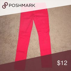 Red jeans Red jeans gently used, still in great condition. Pants Skinny