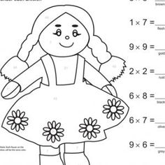 Make Multiplication More Merry With These Fun Coloring Pages And Color By Number Worksheets Kids Will Love Solving
