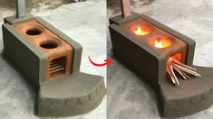 Kitchen Stove Design, Outdoor Kitchen Design, Cement Art, Cement Crafts, Astuces Camping-car, Earth Bag Homes, Brick Bbq, Outdoor Oven, Old Bricks