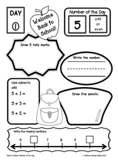 Get ready for back to school with Number of the Day units from Mrs Balius's First Grade.  All students need daily practice working with numbers to effectively develop their number sense.