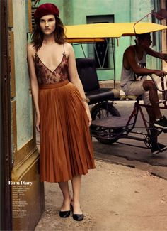 """Havana Days"" Giedre Dukauskaite for Marie Claire US September 2015"
