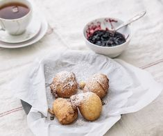 Ricotta Fritters with Quick Mixed Berry Jam