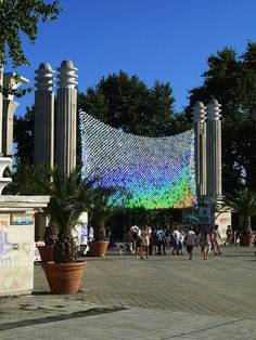 CDs don't have to be a thing of the past. Installation Made From 6,000 CDs in Bulgaria. Visit us at www.itchltd.com