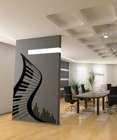 Vinyl Wall Decal Sticker Abstract Piano #1111 | Stickerbrand wall art decals, wall graphics and wall murals.