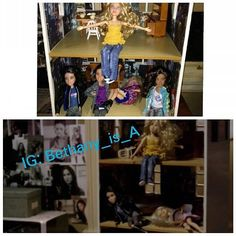 Ok I wanted to make fun of the dolls saying they had a party and too much alcohol but now I'm wondering if it's a clue.  I think it's possible the top pic shows the night at the barn. Hanna fell asleep first? In the bottom pic we see Alison Aria and Hanna. We still don't know what Aria and Hanna did that night Ali went missing. Is this a clue they were sleeping the whole time? We know Spencer left the barn and I'm pretty sure Emily left too since 3x01 is pretty similar to 1x01 (Emily left)…