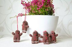 Hangable gingerbread toys for your home by Karitella on Etsy
