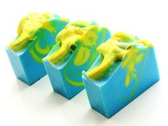 Petals Bath Boutique (Beacon Creations): La Cabaña Handmade Soap made with neon blue pigment