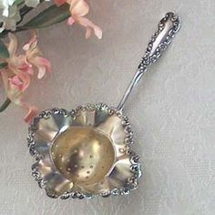 Antique Tea Strainer....(she would absolutely love to join my collection!)  <3