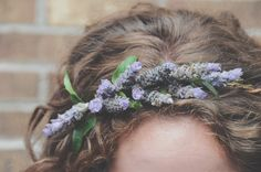 Lavender flower crown // Rosemary & Finch Floral Design