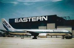 Eastern Airlines 757 and Airport Hangar Sign Boeing Aircraft, Passenger Aircraft, Commercial Plane, Commercial Aircraft, Boeing 727 200, War Jet, Best Airlines, Southwest Airlines, Airline Flights