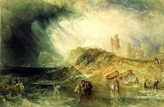 Joseph Mallord William Turner, 'Holy Island, Northumberland'. l Victoria and Albert Museum #art #painting