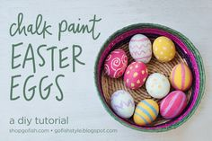 Go Fish Style: DIY Tutorial: Chalk Paint Easter Eggs