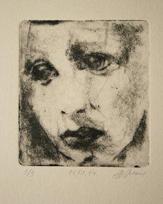 Drypoint etching 11.10.14 by mrchurchyard on Etsy