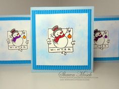 Smiling Snowman Card | FaveCrafts.com