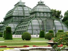 Palmenhaus, Vienna, a greenhouse featuring plants from around the world. The most prominent greenhouse, Schönbrunn Palace, contains one of the largest botanical exhibits in the world, with around 4500 plant species.