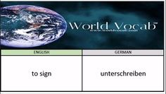 to sign - unterschreiben German Vocabulary Builder Word Of The Day #244 ! Full audio practice at World Vocab™! https://video.buffer.com/v/586d124358924e774d610acc